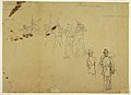 Drawing, Sketches of Single Infantry Figures and Practice Signatures, 1862 (CH 18174379).jpg