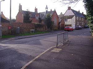 Drayton, Northamptonshire - Image: Drayton school and green 22nd Jan 2008 (1)