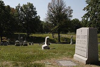 Dred Scott - Dred Scott's grave in Calvary Cemetery (St. Louis).