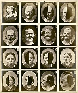 Facial expression motions or positions of subcutaneous human face muscles, conveying emotional state