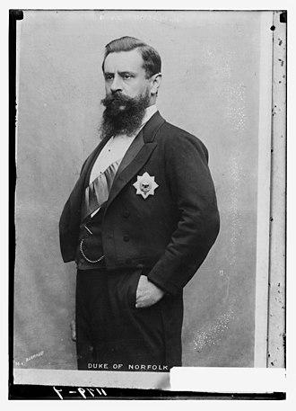 Henry Fitzalan-Howard, 15th Duke of Norfolk - Henry Fitzalan-Howard (about 1890)