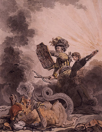 William Tell - An allegorical Tell defeating the chimera of the French Revolution (1798).