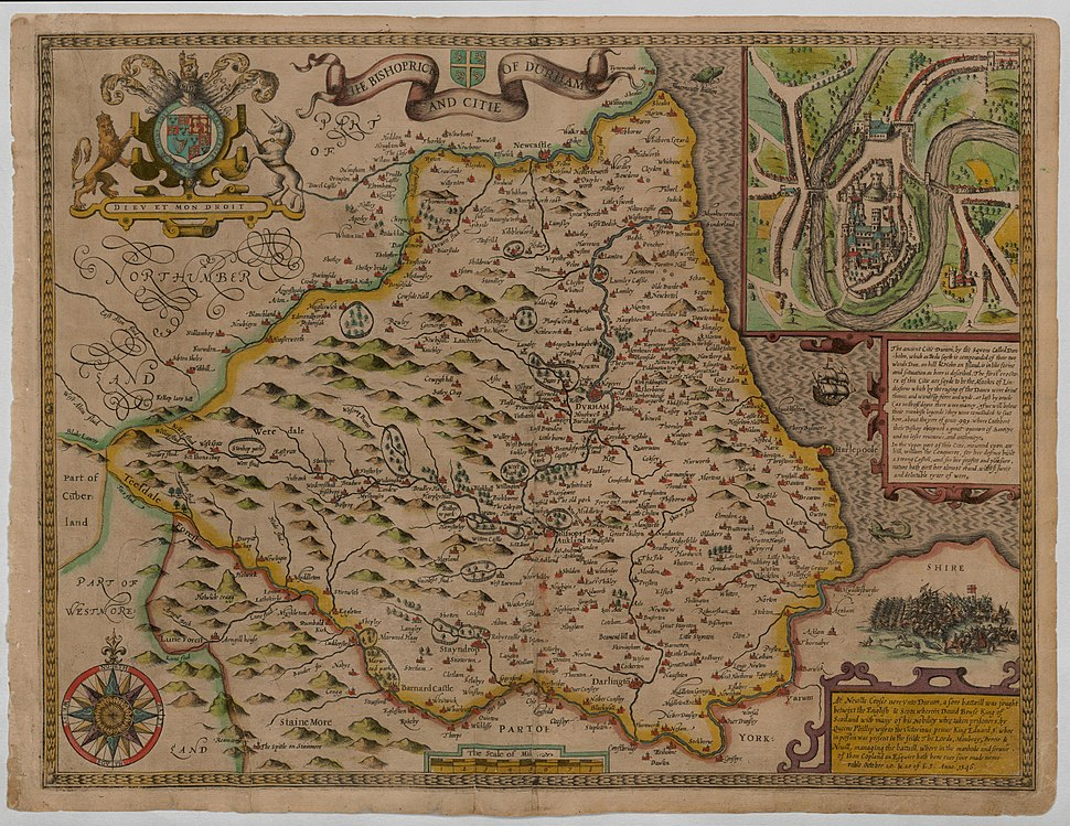 Durham - John Speed Map