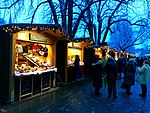 During the winter months in Ljubljana, Slovenia, a Christmas market is hosted along the Ljubljana River..jpg