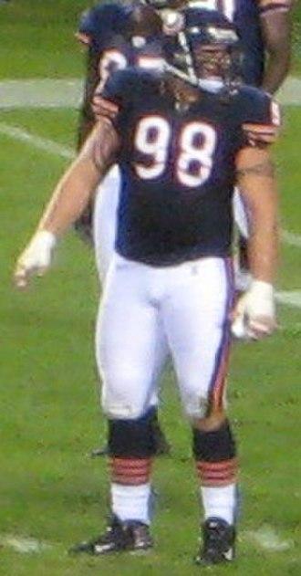 Dusty Dvoracek - Dvoracek in 2008 with the Chicago Bears.