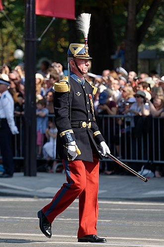 École spéciale militaire de Saint-Cyr - The colonel, supervisor of the Cadets' studies, during the Bastille Day Military Parade.