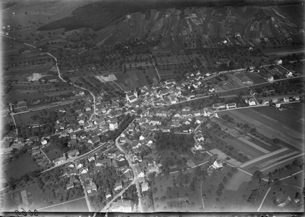 Aerial view from 400 m by Walter Mittelholzer (1923)