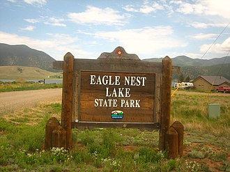 Eagle Nest Lake State Park - Image: Eagle Nest Lake State Park sign, NM Picture 2192