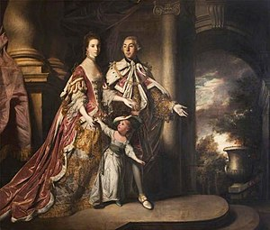 Earl of Mexborough - John Savile, 1st Earl of Mexborough, with his wife and son.
