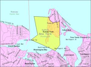 Eatons Neck, New York - Image: Eatons neck ny map