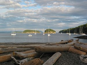 Sucia Island - Boats at anchor in Echo Bay