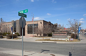 Edgewater, Colorado - The Edgewater Municipal Building, located at 24th Avenue and Sheridan Boulevard.