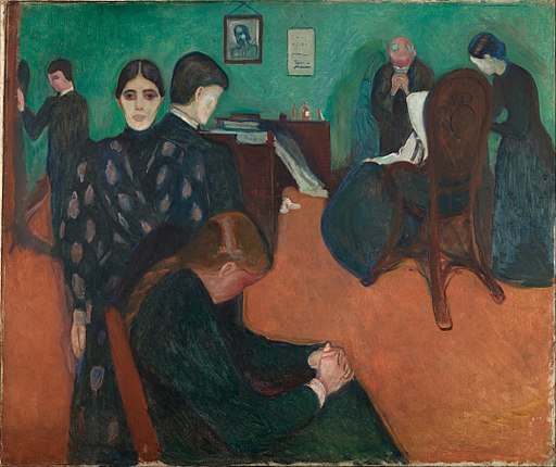 Edvard Munch - Death in the Sickroom - Google Art Project