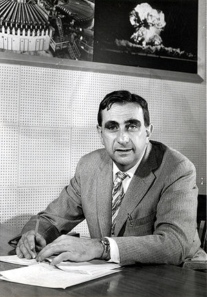 Edward Teller in 1958 as Director of the Lawrence Livermore National Laboratory.