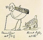 Edward Lear and His Cat Foss 1885