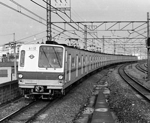 Tokyo Metro 6000 series - Set 10 in 1985 before the retro-fitting of air-conditioning