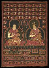 Eighth Karmapa, Mikyo Dorje (1507-1554) and his teacher the First Sangye Nyenpa