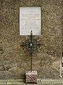 Eisenerz - Pfarrkirche hl Oswald - Gedenkstein für Franz Zehrer.jpg