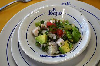 El Bajío (restaurant) - Ceviche verde, a specialty of the restaurant
