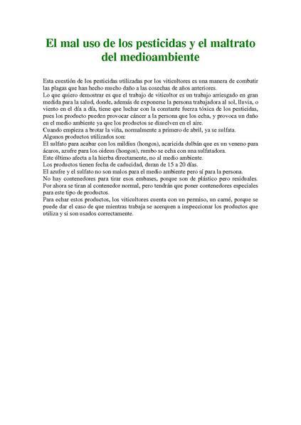 File:El mal uso de los pesticidas y el maltrato del medioambiente.pdf