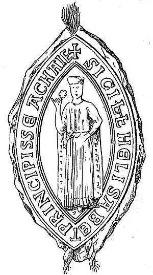 Geoffrey I of Villehardouin - Seal of wife Elisabeth.