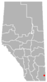 Elkwater, Alberta Location.png