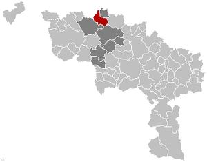Ellezelles - Image: Ellezelles Hainaut Belgium Map
