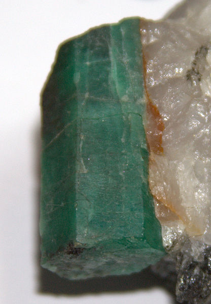 File:Emerald specimen with matrix.jpg