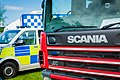 Emergency vehicles at Staffordshire County Show.jpg