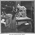 """Emma Cadwalader-Guild working on her sculpture """"Electron"""".jpg"""