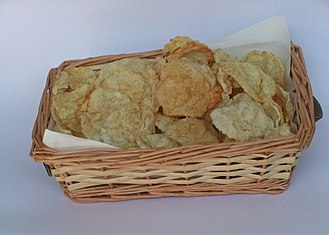 Gnetum gnemon - Emping melinjo chips, made from smashed Gnetum gnemon seed