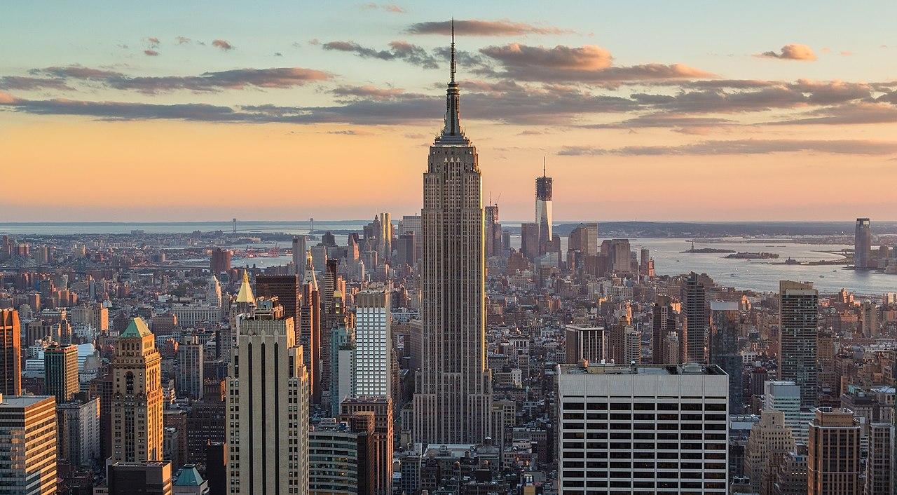 Vista de la fachada norte del Empire State Building.