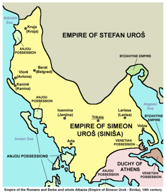 Fall of the Serbian Empire - Domain of Simeon Uroš