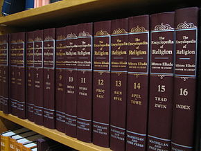 Volumi dell'Encyclopedia of Religion editi da Mircea Eliade come caporedattore. Pubblicati da Macmillan, l'opera gli valse la Dartmouth Medal dell'American Library Association nel 1988.