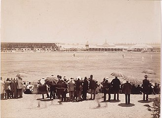England v Australia at SCG, 27 January 1883 England v. Australia Cricket Match at the Sydney Cricket Ground, January 27 1883 - by unknown photographer (3064799664).jpg
