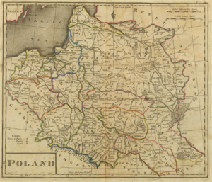 "An 18th century map labeled ""Poland"""
