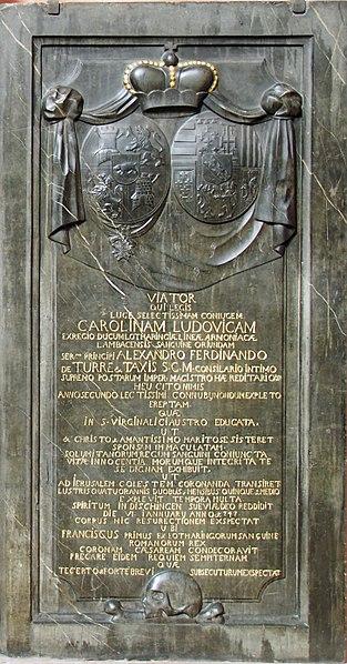 File:Epitaph Alexander Ferdinand von Thurn und Taxis@Kaiserdom St. Bartholomäus Frankfurt a.M.20170819.jpg