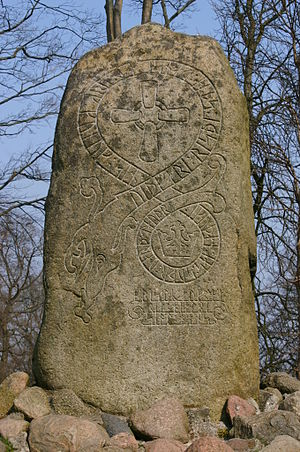 Eric I of Denmark - Memorial stone in Borgvold, Viborg, Denmark