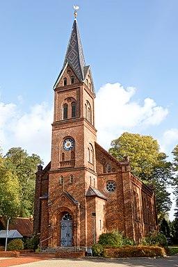 Erlöserkirche Henstedt (Ev. Luth.) in Henstedt Ulzburg, Oktober 2020