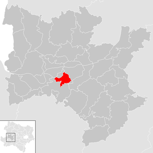 Location of the municipality of Erlauf (municipality) in the Melk district (clickable map)