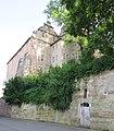 Eschweger Landgrafenschloss - Blick von der unterhalb gelegenen Schlossmühle zum hohen Werraufer gelegenem Schloss - - Schlossplatz - panoramio.jpg