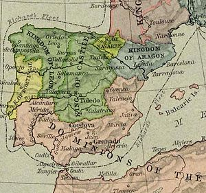 Kingdom of Navarre - Navarre (light green) in 1190