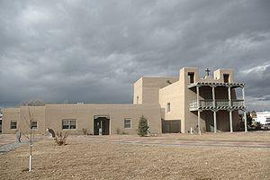 Española, New Mexico - Española Plaza, Replica convento