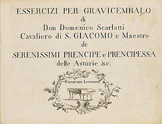 Essercizi per gravicembalo 1739 harpsichord sonata collection by Domenico Scarlatti