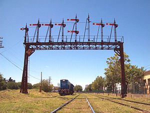 Route knowledge (rail) - Where more than one signal is located on a gantry there is a risk of reading across to an adjacent signal