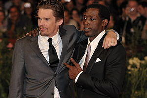 Wesley Snipes - Snipes with Ethan Hawke during the 66th Venice International Film Festival.