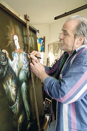 Eugène Peters - Eugène Peters in his studio.