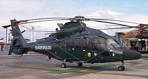 Bundesgrenzschutz - Former BGS Eurocopter EC 155 with current markings but BGS dark-green paint