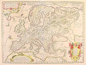 Historical atlas - Europe at the time of the Celts (1595), a map from one of the first historical atlases, by Abraham Ortelius