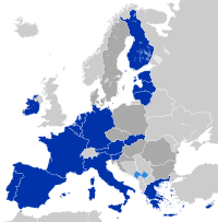 The eurozone as of 2012